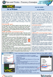 TEKTRONIX TIPS&TRICKS 157 - noVNC y HTML5 - ES