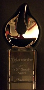 Tektronix 2015 YOY Growth Award
