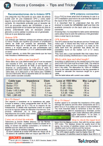 TEKTRONIX TIPS&TRICKS 133 - Conexion GPS a SPG8000A_ES