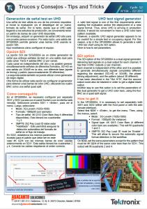 TEKTRONIX TIPS&TRICKS 134 - UHD color bar - ES