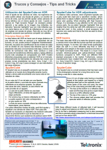 TEKTRONIX TIPS&TRICKS 135 - SpyderCube para ajustes HDR - ES