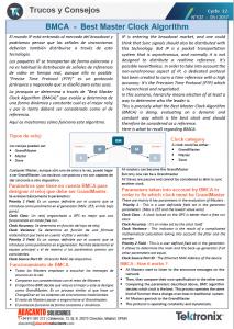 TEKTRONIX TIPS&TRICKS 137 - PTP Algoritmo BMCA - ES