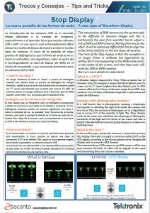 TEKTRONIX TIPS&TRICKS 143 - Stop Display - ES