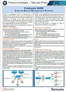 TEKTRONIX TIPS&TRICKS 144 - IGMP - ES