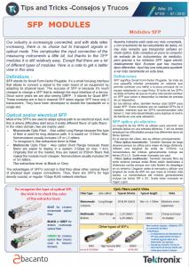 TEKTRONIX TIPS&TRICKS 151 - Módulos SFP - ES