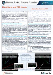 TEKTRONIX TIPS&TRICKS 155 - Black Burst versus PTP - ES